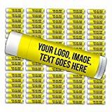 Personalized Lip Balm, Premium Quality—Bulk 100-Piece Pack—Smooth Mint Flavored, SPF 15, Made with Beeswax, Aloe Vera, Coconut Oil, Avocado Oil, Vitamin E. Promotional Giveaway Items.