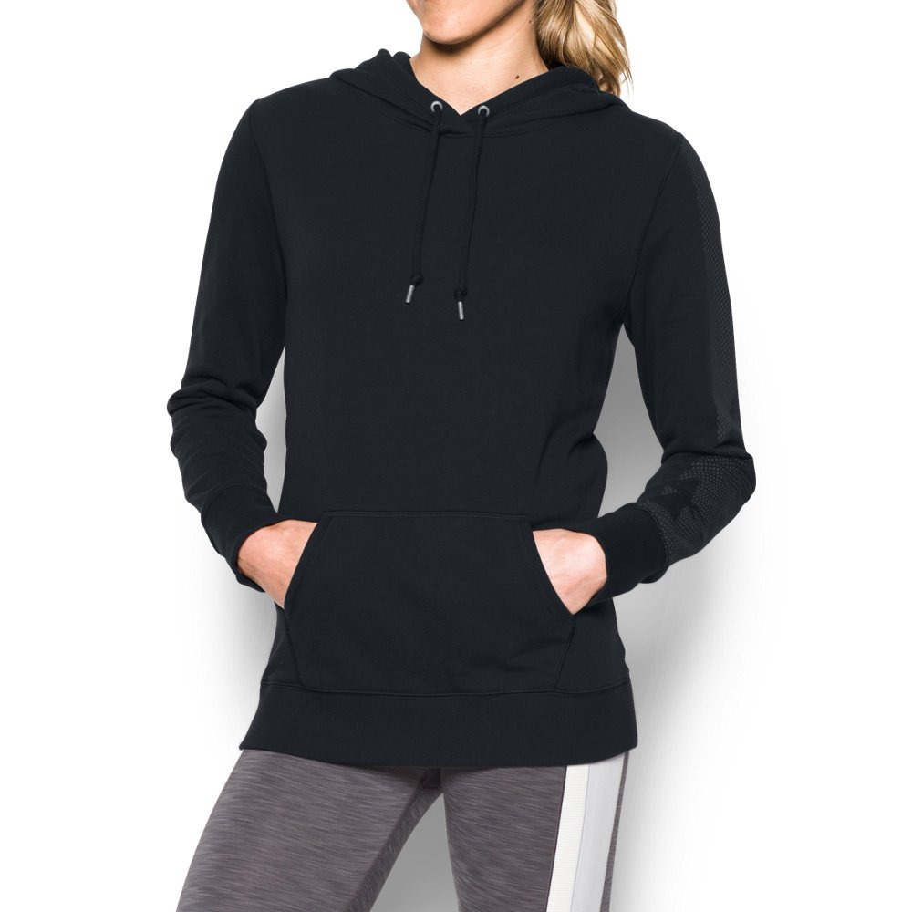 Under Armour Women's Favorite French Terry Popover, Black/Graphite, Small