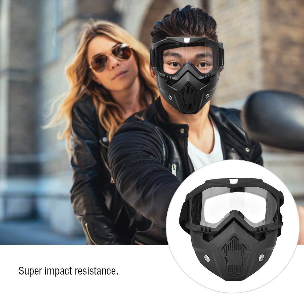 Alomejor Gafas de esqu/í con m/áscara Facial Protectora Invierno Nieve Deportes Snowboard Motocicleta Gafas a Prueba de Viento