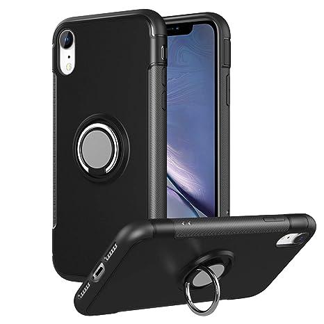 MoKo iPhone XR Funda - Sujetador de Clip de Anillo Funda TPU Amortiguador antichoque de absorción