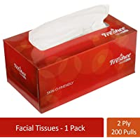 Freshee 200 Pulls 2 Ply Sheet Car Tissue Paper Box  Extra Soft Hygienic Fresh Natural Skin Friendly Water Dissolvable Disposable Dry Tissue Made With 100% Virgin Fiber