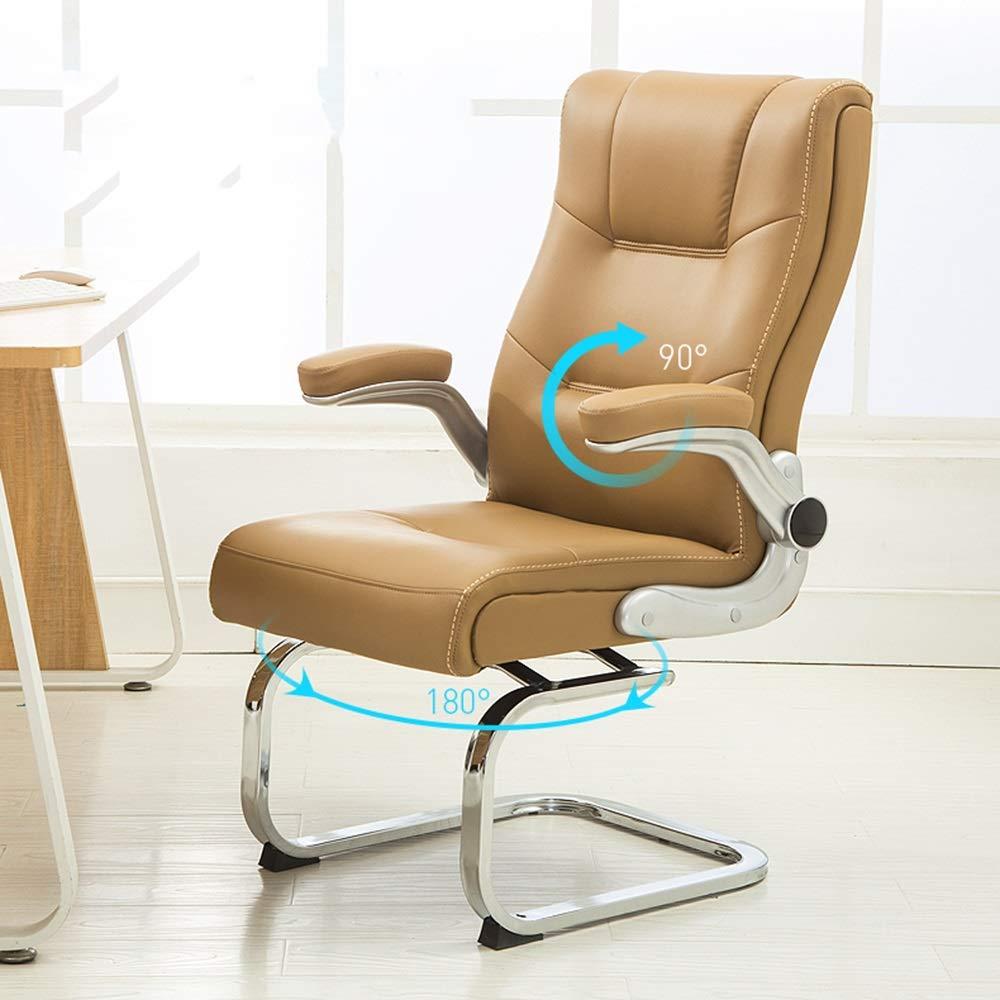 Bseack dator skrivbordsstol med vårsätesväska ergonomiskt högt ryggstöd kontor datorstol uppgift svängbar verkställande dator stol för kontor mötesrum (färg: Vinröd) Khaki