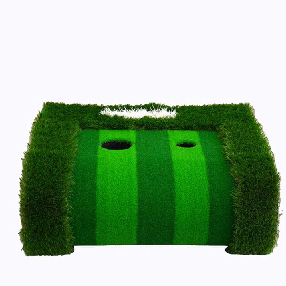FUNGREEN 75X300CM Golf Putting Green System Professional Practice Indoor/outdoor Backyard Golf Training Mat Aid Equipment with 3 Colors Grass by FUNGREEN (Image #4)