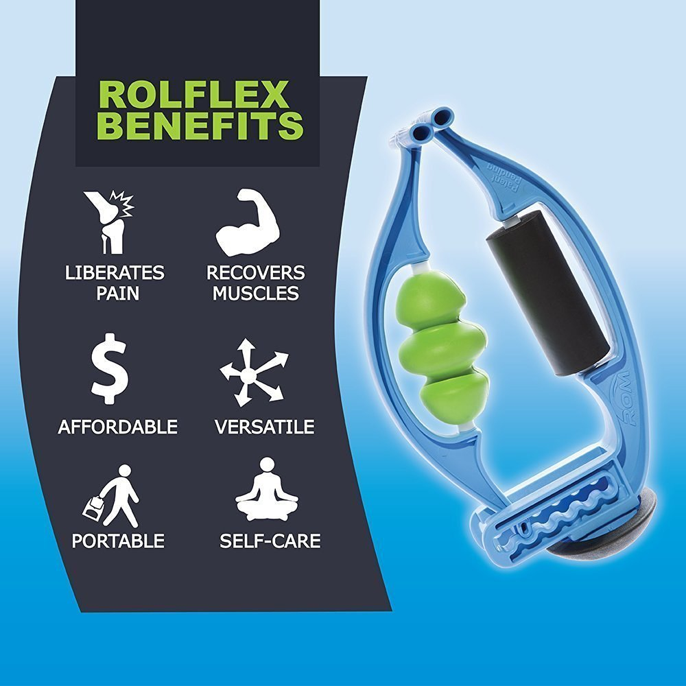 2 Pack Bundle - Rolflex The Foam Roller Re-imagined - Best Self Myofascial Release & Trigger Point tool for the whole body - 2 x 5 Foam Rolling tools in one by Rolflex (Image #5)