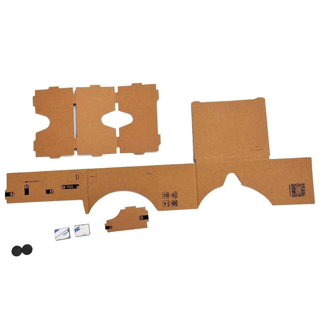 3D Virtual Reality Glasses - TOOGOO (R) Mobile phone cardboard quality 3D Virtual Reality Glasses by SODIAL (Image #2)