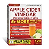 Phytogenix Apple Cider Vinegar for Effective Weight Loss and Appetite Suppressant, 120 Count