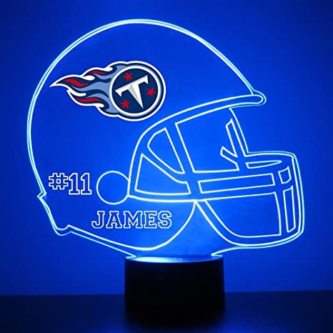 best sneakers 406cf 13053 Mirror Magic Store Tennessee Titans Football Helmet LED Night Light with  Free Personalization - Night Lamp - Table Lamp - Featuring Licensed Decal