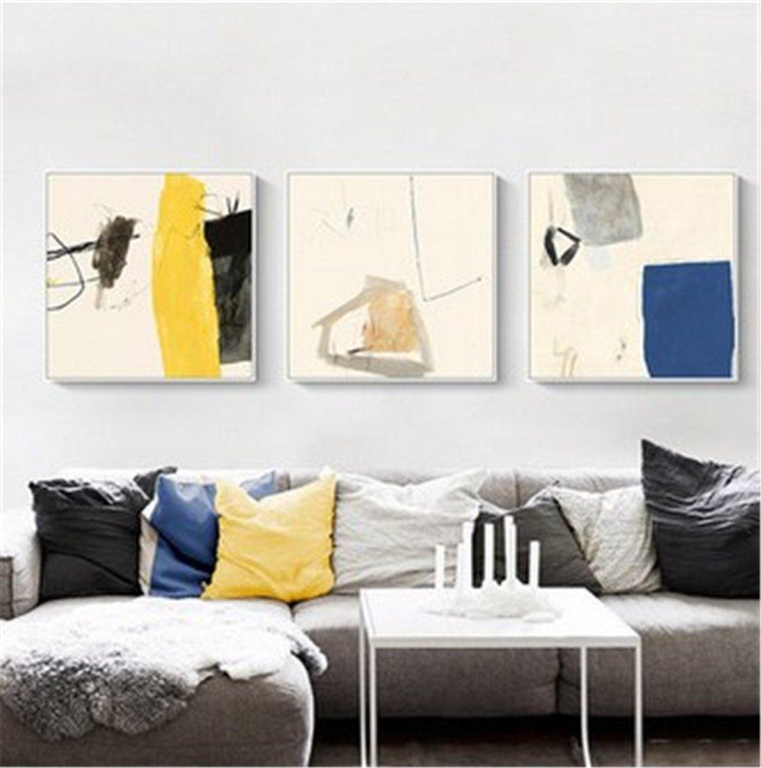 XIAPENGminimalista Moderno Dormitorio cabecera Pintura de Abstracto la Pared del Fresco Abstracto de Pintura Decorativa habitación Modelo Restaurante Sala de Pinturas (48  48 cm), e c7130f