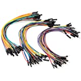 SIM&NAT 8inch / 20cm Male to Female Dupont Wire, Male to Male, Female to Female Breadboard Jumper Wire Ribbon Cables kit…