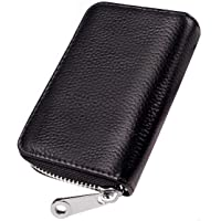 GADIEMKENSD Genuine Leather Credit Card Wallet, Fold Accordion Style with RFID Blocking