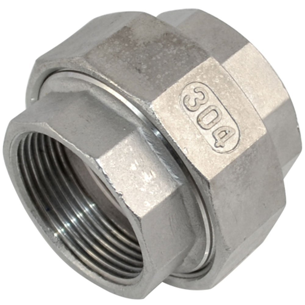 2'' Female x Female Stainless Steel SS304 Malleable Straight Union Coupling Pipe Fitting F/F by dot