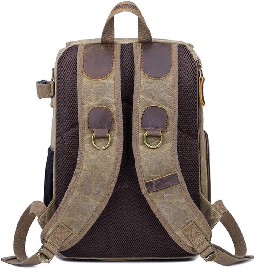 Dertyped Digital Accessory Storage Bag Photography Bag Camera SLR Shoulder Photography Backpack Waterproof Large Capacity Wax Dye Canvas Backpack Universal Travel Digital Accessories Storage Bag