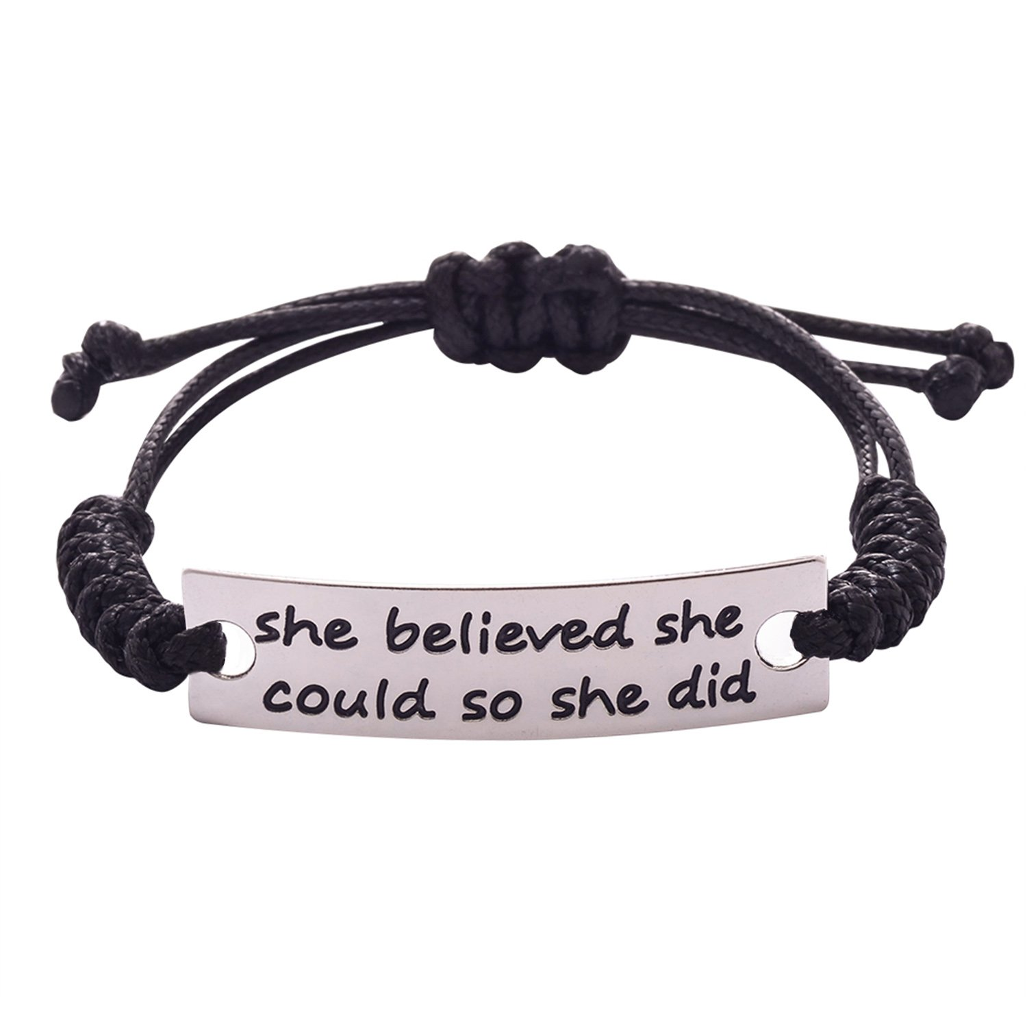 BaubleStar She believed she could so she did Inspirational Bracelet Gift Jewelry DreamyGal BAN0047-US