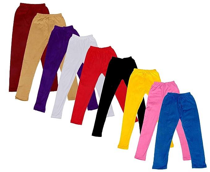 Indistar Kids Super Soft Cotton Leggings Combo 8