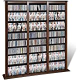 Atlin Designs 64 Triple Media Storage Rack in Espresso