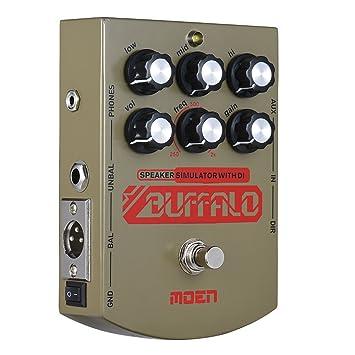 Kalaok MO-BA BUFFALO Parlante para guitarra eléctrica Simulador Efecto Ecualizador de pedal con salida de auriculares DI True Bypass: Amazon.es: ...