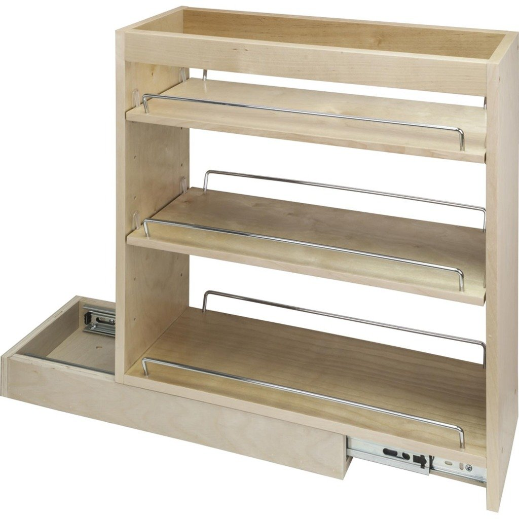 Hardware Resources BPO8SC Base Cabinet Pullout, Maple - Cabinet ...