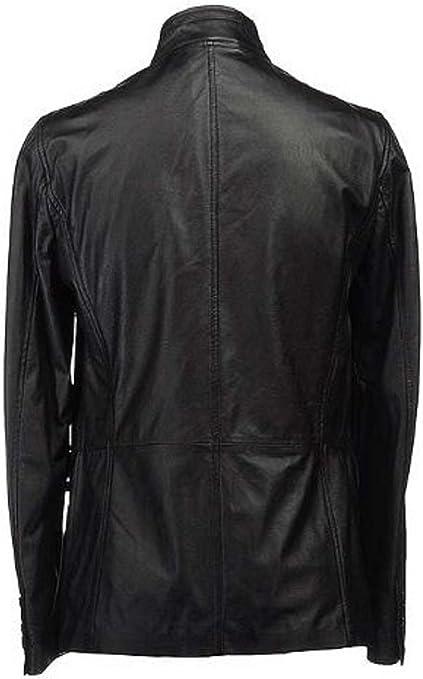 Koza Leathers Mens Genuine Lambskin Real Leather Biker Jacket NK002