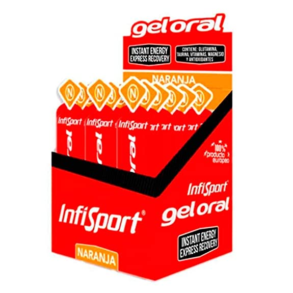 Infisport Gel Oral Sabor Naranja - Naranja, Rojo: Amazon.es: Zapatos y complementos