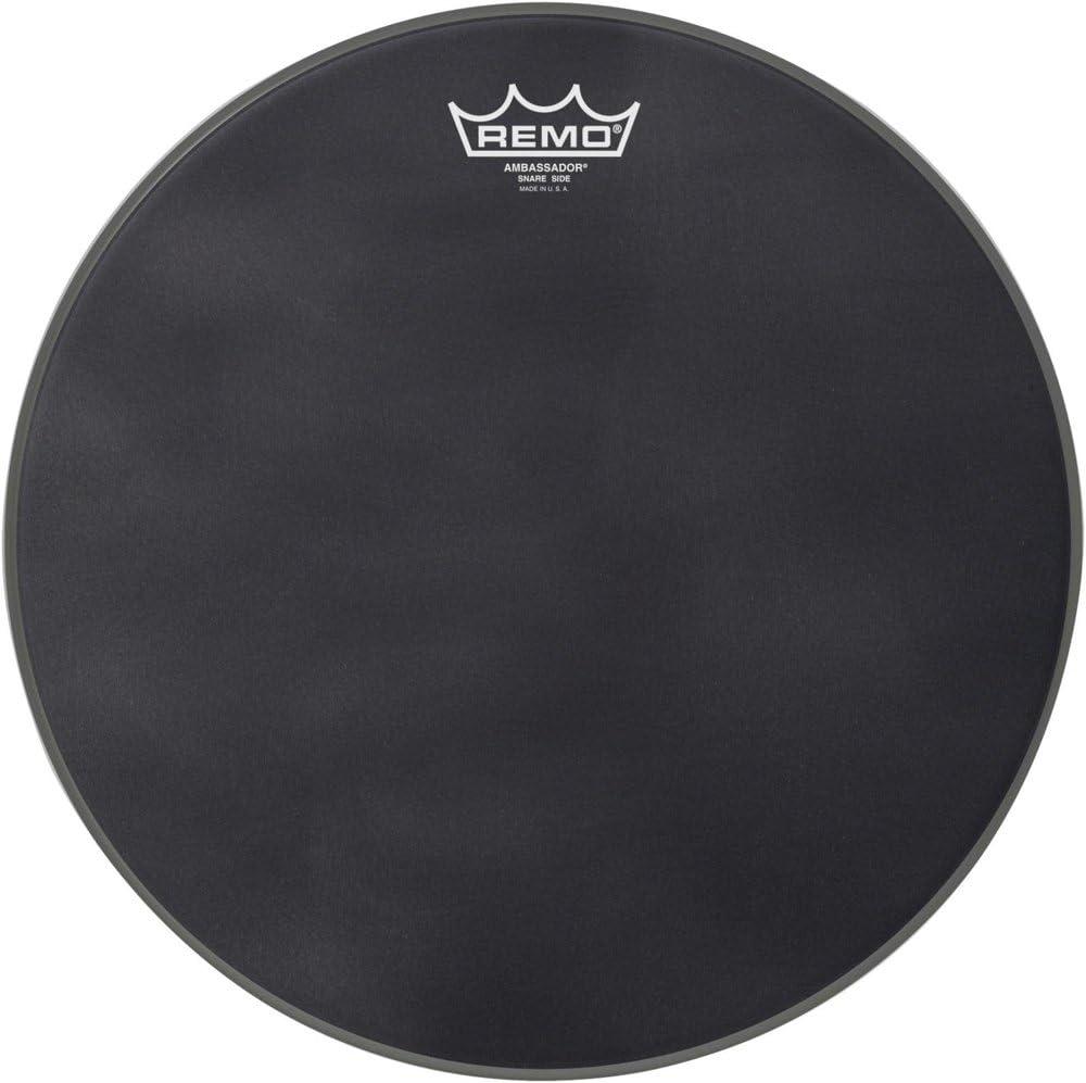 Remo Black Suede Series Snare Side Drumhead matte black 13-inch