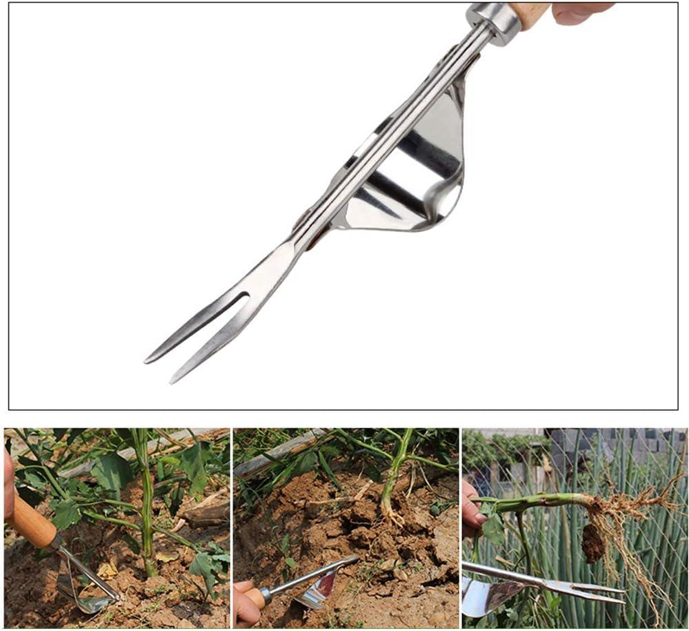 L/öwenzahnwurzel knickfest scharfe V-Nase rostfreier Stahl Hand-Unkrautstecher aus Edelstahl manueller Unkrautstecher