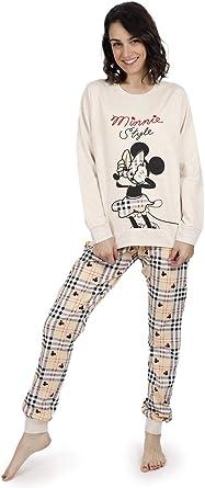 Disney Pijama Manga Larga Minnie Fashion para Mujer: Amazon ...