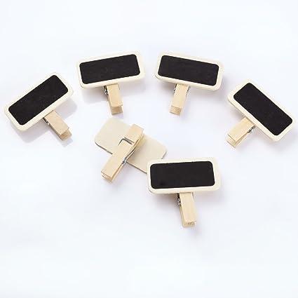 50 Mini pizarra con clips pinzas para boda fiesta de ...