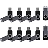 Enfain 8GB USB 2.0 Flash Drive, Black (10 Pack)