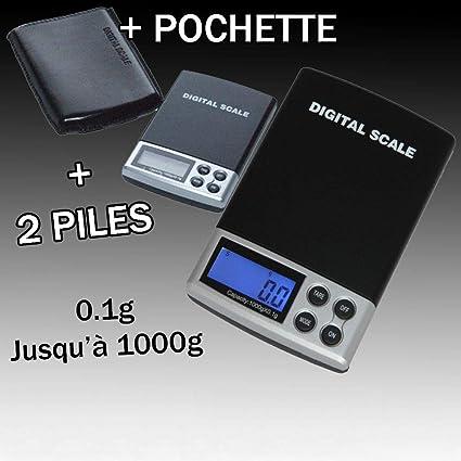 PIRABADI báscula electrónica de Precision Bolsillo 0.1 g 0.1 g Gr a 1000 g 0,