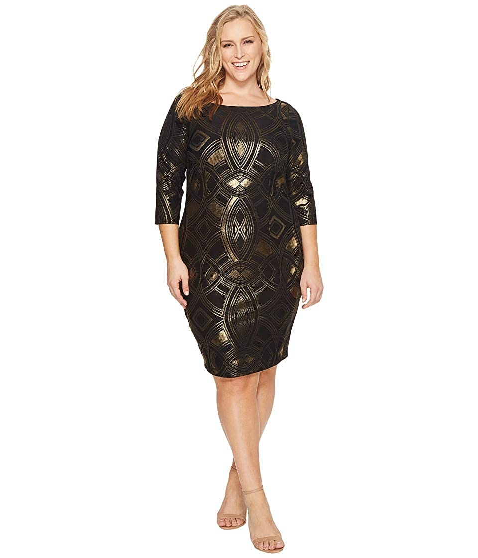 93257b2c58c Sangria Womens Plus Size 3 4 Sleeve Sheath Dress at Amazon Women s Clothing  store