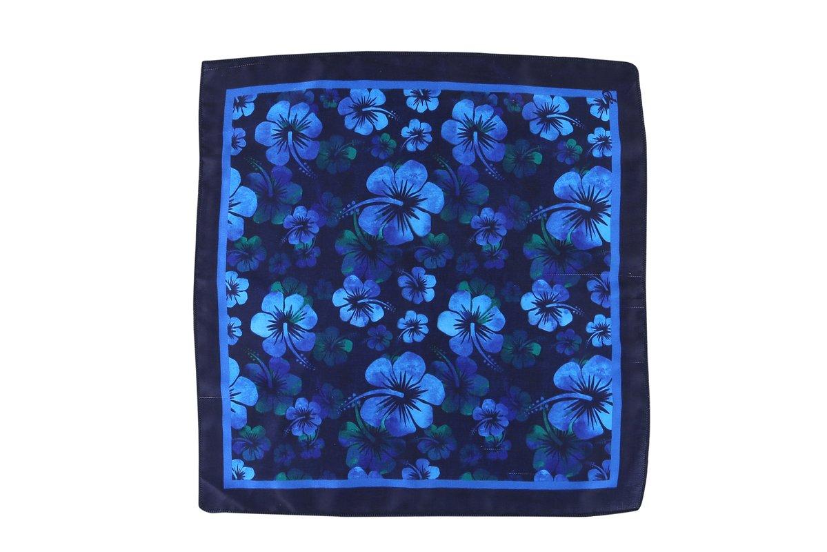 Cladien Men's Handkerchief Free Size Navy Blue