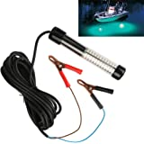 Goture 12V 10.8w 180 LEDs Submersible Fishing Light With 5m/ 5.47yd Cord – White, Blue, Green
