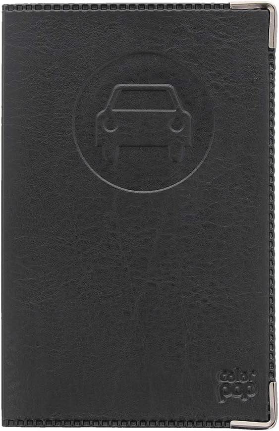 Noir Porte Papier Voiture Etui PERMIS Carte Grise Assurance Fabrication Francaise