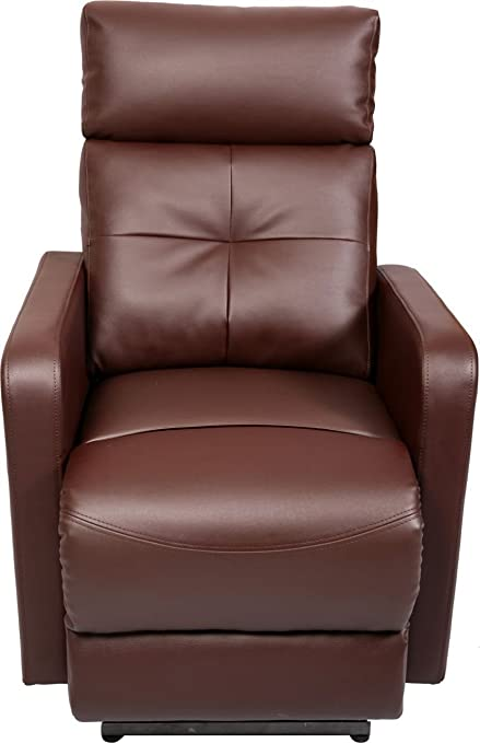 Recliners India Single Seater Manual Recliner (Matt Finish, Brown)