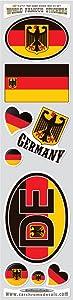 Car Chrome Decals STS-German Germany 9 Stickers Set German Deutschland Flag Decals Bumper stiker car auto Bike Laptop