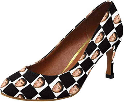 White Checkerboard Shoes