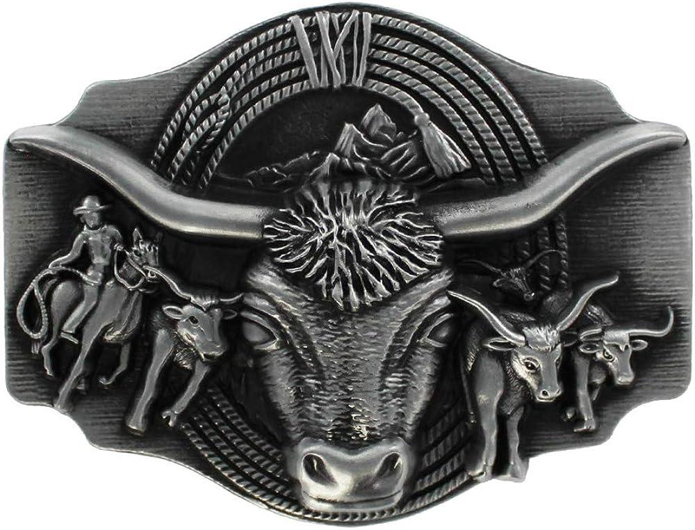 Rund Legierung Gürtelschnalle Western Buckle Cowboy