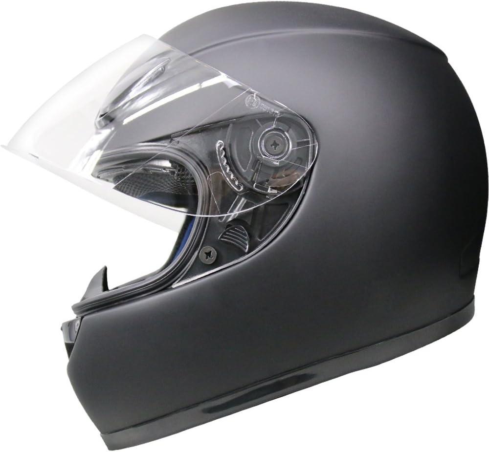 Leopard LEO-115 FIBREGLASS Light Weight Full Face Motorbike Helmet Matt Black Motorcycle Crash Helmet S