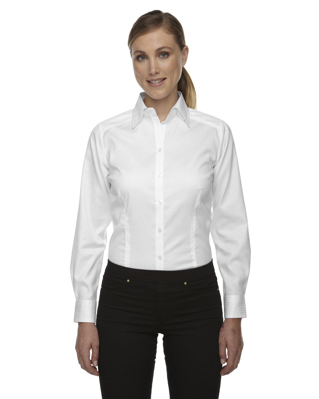 Ash City Ladies Jacquard Shirts (Large, White) by Ash City Apparel