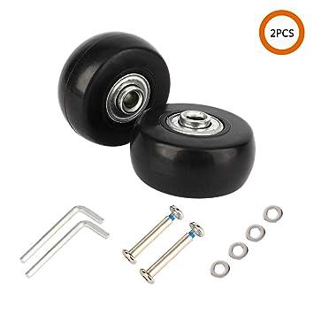 Amazon.com: YVO - Juego de 2 ruedas de repuesto para maleta ...