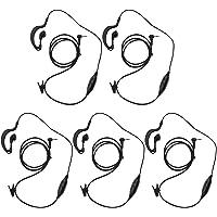 abcGoodefg® G Shape Clip-Ear Headset/Earpiece Mic for Motorola Talkabout MD200TPR MH230R MR350R MS350R MT350R MG160A MH230TPR 2 Two Way Radio Walkie Talkie 1-pin (5PCS)