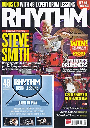 Rhythm Magazine ( Includes Bonus CD - July 2016 - Cover: Steve Smith - Prince's Drummers)