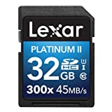 Lexar Platinum II 300x SDHC UHS-Iカード 32GB (最大読込 45MB/s)[国内正規品] 無期限保証 LSD32GBBJP300