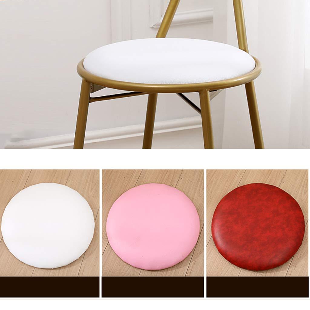 XIAOZHUZHU Klädbordsstol, flickor sovrum gyllene rosett makeupstol vardagsrum balkong lounge stol ryggstöd stol restaurang matstol hem dekorativa möbler, rosa Rosa