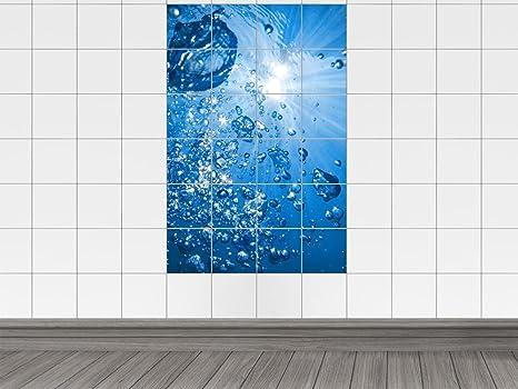 Piastrelle adesivo piastrelle stampa su acqua bolle sole sottacqua