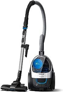Philips PowerPro Compact Stofzuiger zonder stofzak FC9332/09 - Compact en krachtig - Met allergiefilter - Mondstuk reinigt in 3 richtingen - Eenvoudig te legen stofbak - Geïntegreerde borstel