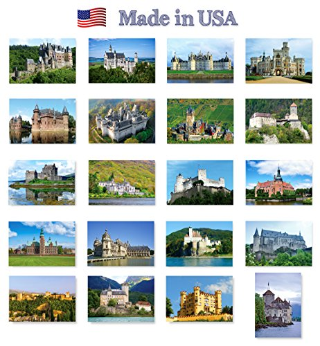 CASTLES of Europe postcard set of 20. Post card variety pack depicting castle collection postcards. Made in - Set Europa