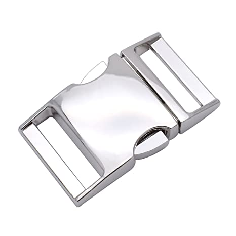 Steckschnalle mit Seitenverschluss, für 25 mm Gurtband für Armband, Tasche, Rucksack, 5er-Pack