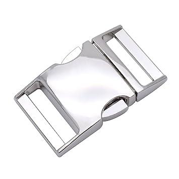Cierre de metal Clip lateral cierre uso para 25 mm Webbing/pulsera/bolsa/ mochila 5 unidades: Amazon.es: Hogar
