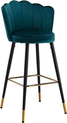 CIMOTA Bar Stool Velvet Modern Kitchen Barstool
